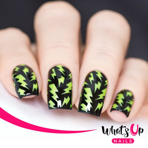 Whats Up Nails - Lightning Bolts Stencils