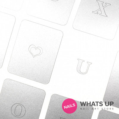 Whats Up Nails - Love Letters Stickers & Stencils