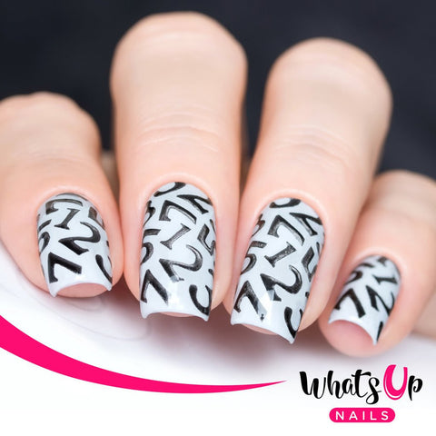 Whats Up Nails - Numbers Stickers & Stencils
