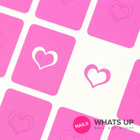 Whats Up Nails - Open Heart Stickers & Stencils