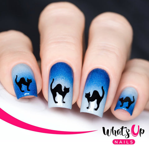 Whats Up Nails - Cat Stickers & Stencils