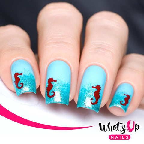 Whats Up Nails - Seahorse Stickers & Stencils