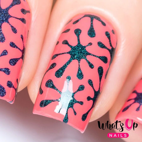 Whats Up Nails - Splatter Stickers & Stencils