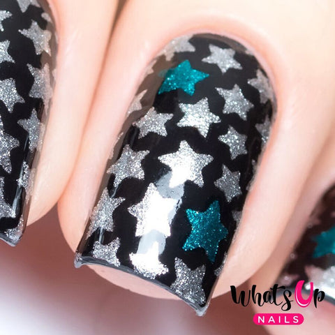 Whats Up Nails - Stars Stickers & Stencils