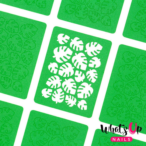 Whats Up Nails - Tropical Leaves Stickers & Stencils