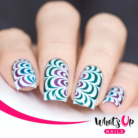 Whats Up Nails - Water Marble Stencils
