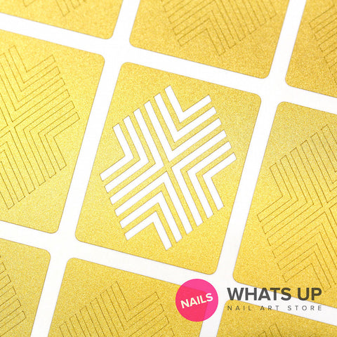 Whats Up Nails - X-pattern Stencils