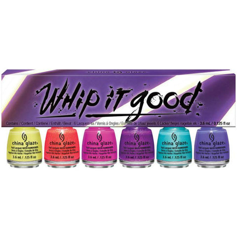 China Glaze - Lite Brites - Whip It Good 6pc Micro Mini Set