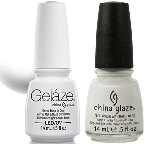 China Glaze - Lacquer & Gel 2 pcs Duo Pack - White on White