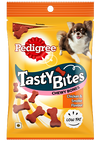 Buy Pedigree Tasty Bites Chewy Bones Chicken and Smoke Flavour online shop now pawshop