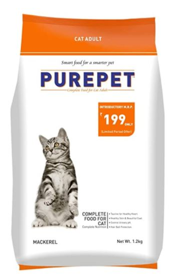 Purepet Adult(+1 year) Dry Cat Food, Mackerel