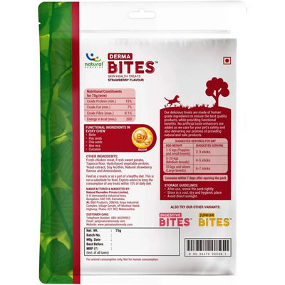 Natural Remedies Derma Bites - Strawberry Flavour - 75G