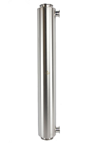 900 Gram Fully Jacketed Dewaxing Column with Triclamp connection
