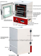 "Across International 2.3 Cu Ft Elite 16x16x16"" Digital Vacuum Oven with 5 Shelves & LED Lights"