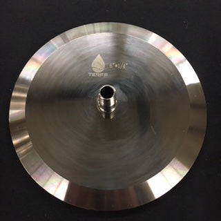 "6"" TriClamp End Cap with 1/4"" Male NPT"