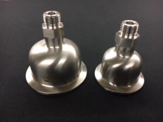 "Hemispherical End Cap with 3/8"" Male SAE ORB (O-Ring Boss)"