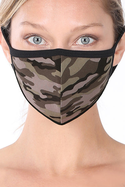 Cotton Camouflage Protective Washable Face Mask