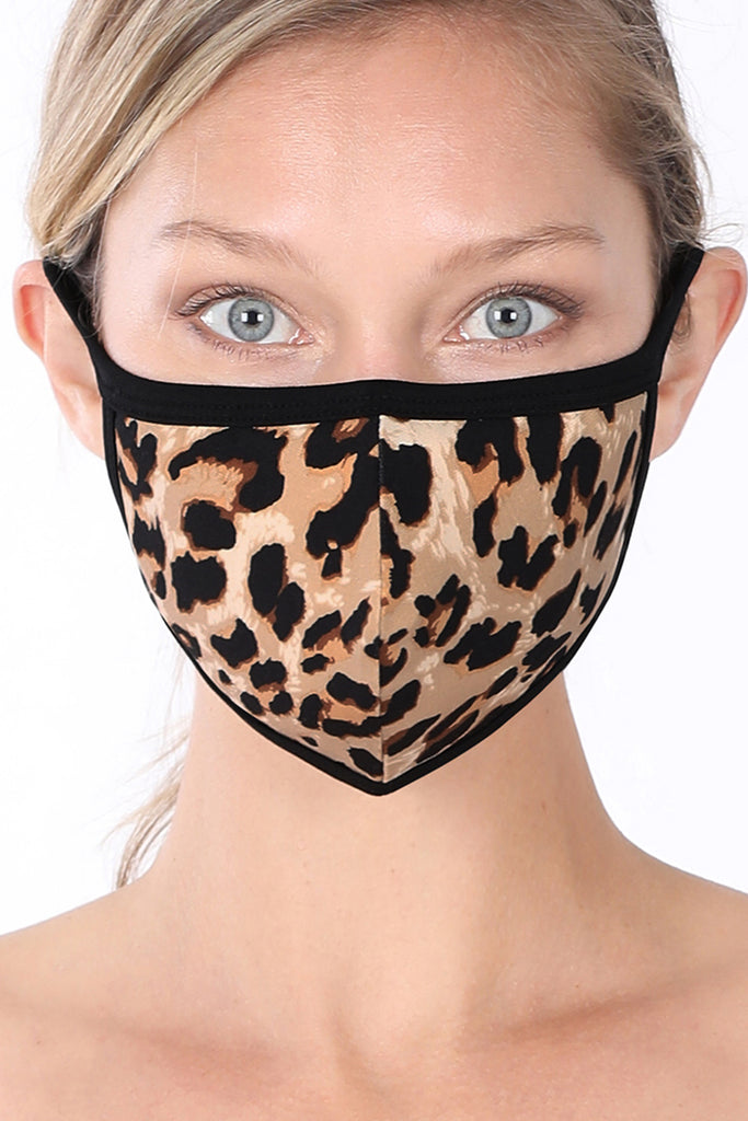 Cotton Leopard Print Protective Washable Face Mask