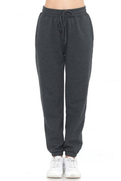 Active Elastic Waist Cuffed Fleece Jogger Pants