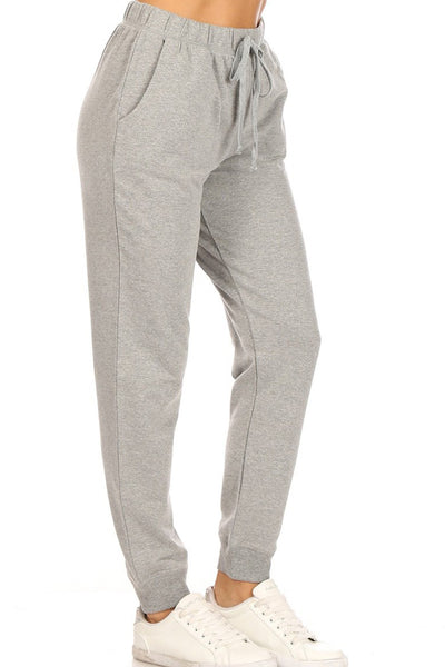 Active Relaxed Fit Elastic Waist Jogger Pants with Pockets