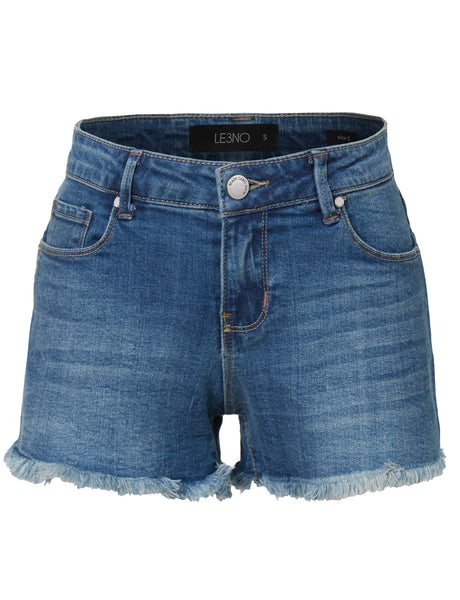 Casual Distressed Cut Off Denim Jean Shorts with pockets (CLEARANCE)