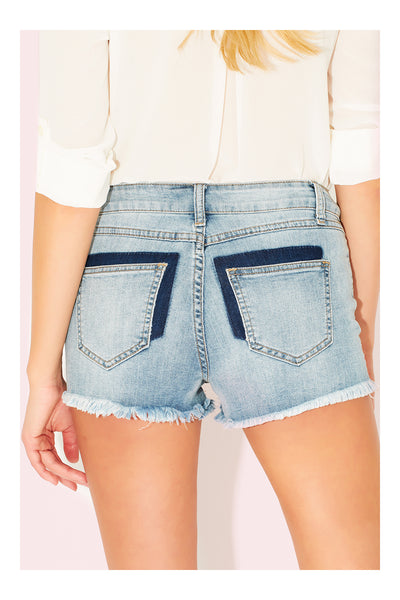 Vintage Medium Rise Distressed Destroyed Cut Off Denim shorts
