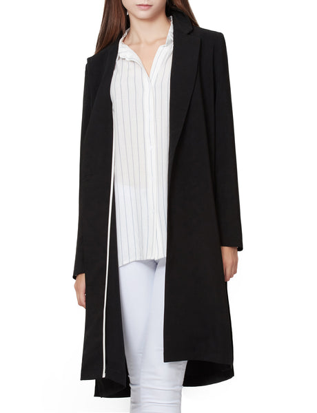 Lightweight Oversized Single Button Long Boyfriend Blazer Jacket