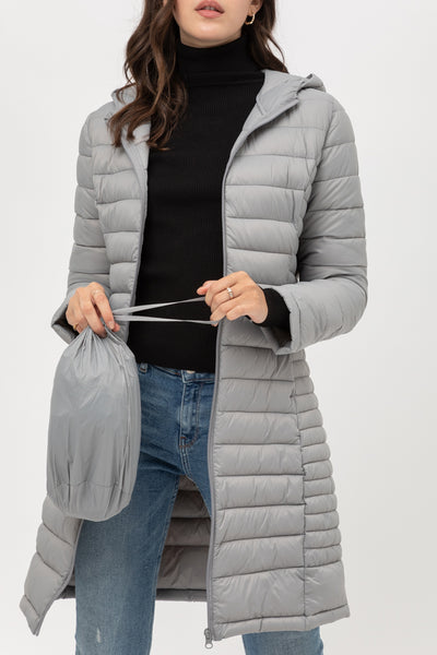 Ultra Soft Fully Lined Padded Puffer Packable Coat Jacket