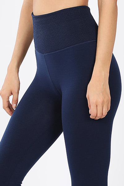 High Waisted Ankle Length Fleece Lined Tummy Control Seamless Leggings