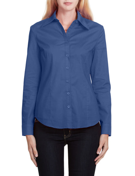 LE3NO Womens Lightweight Casual Long Sleeve Button Down Shirt
