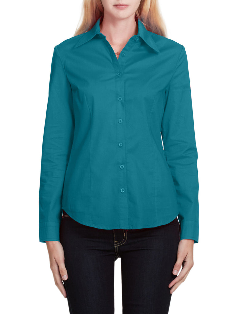 Le3no womens lightweight casual long sleeve button down for Lightweight long sleeve shirts women s