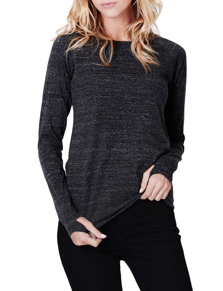 Tri-Blend Long Sleeve Round Neck T Shirt with Thumb Hole (CLEARANCE)