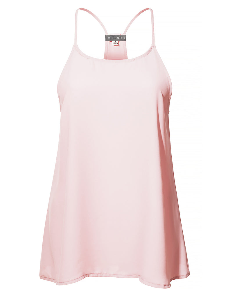 17441eed20abd3 ... Round Neck Sleeveless Racerback Blouse Top · LIGHTPINK LIGHTPINK ...