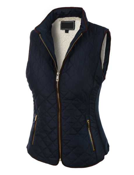 Lightweight Quilted Puffer Jacket Vest with Pockets (CLEARANCE)