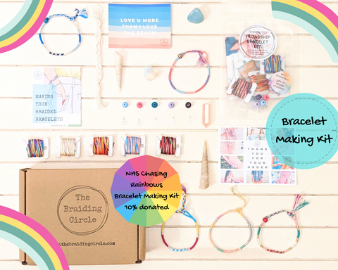 NHS Chasing Rainbows Bracelet Making Kit  - Makes 5 + Online Workshop