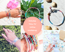 Load image into Gallery viewer, Cotton Candy Braided Friendship Bracelet / Anklet Kit - Makes 3 + Online Workshop