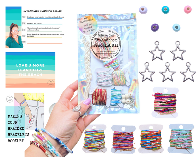 NHS Chasing Rainbows Bracelet / Anklet Kit  - Makes 5 + Online Workshop