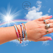 Load image into Gallery viewer, NHS Chasing Rainbows Bracelet / Anklet Kit  - Makes 5 + Online Workshop