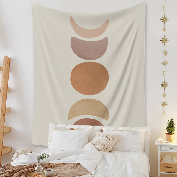 Wall Carpet Psychedelic Tapestry Sun and Moon Boho Decor Farmhouse Homestay Decoration Nordic Wall Hanging Tapiz Mandala Blanket