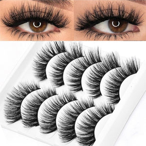 5D Soft Mink Hair False Eyelashes
