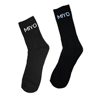 Black Sports Sock (MIYO)