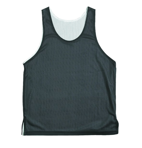 BASKETBALL REVERSABLE SINGLETS - BLACK / WHITE