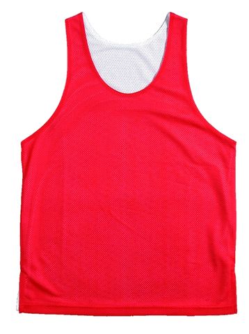 BASKETBALL REVERSABLE SINGLETS - RED / WHITE