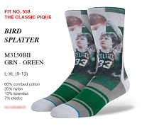 Boston Celtics Larry Bird Sublimated Sock