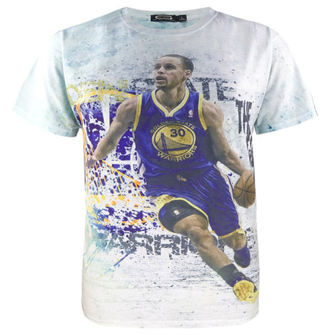Stephen Curry Dribling Kids T-shirt