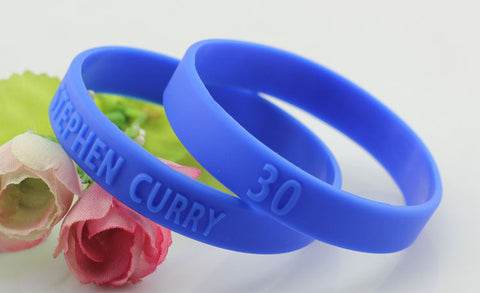 Stephen Curry - Wrist Band Blue & Gold