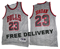 BUDGET CHICAGO Bulls MICHAEL Jordan GREY JERSEY - Free Delivery