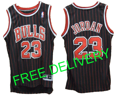 BUDGET CHICAGO Bulls MICHAEL Jordan Black & Red Stripe - Free Delivery