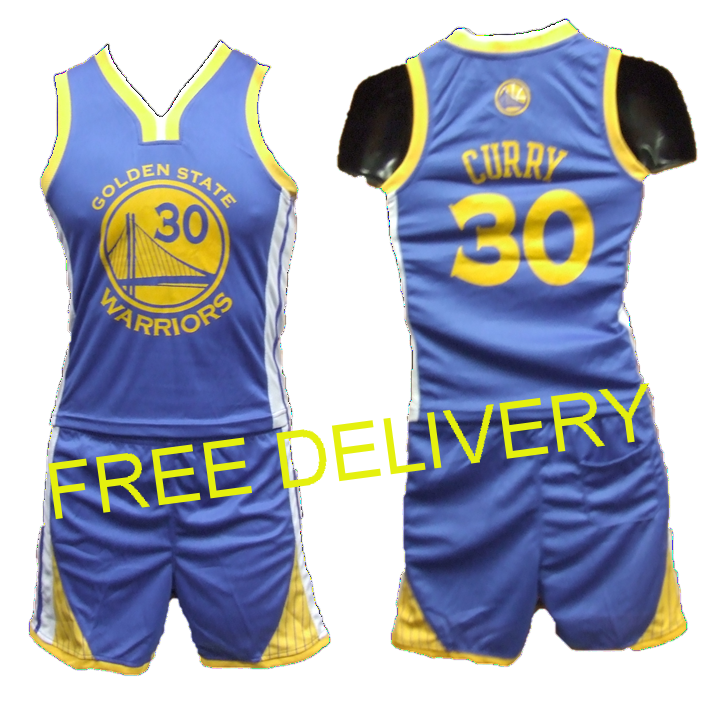 hot sale online fd719 a672a KIDS NBA GOLDEN STATE WARRIORS CURRY BLUE UNIFORMS - Free Delivery