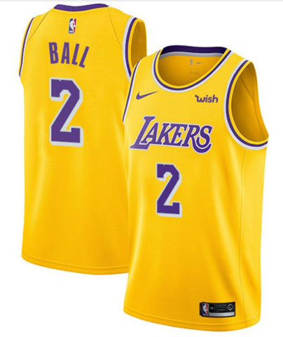 BUDGET LA LAKERS Lonzo Ball Gold - Free Delivery